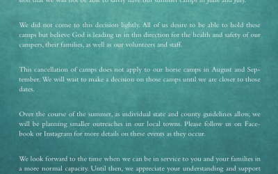 Camp Cancellations